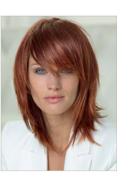 Attractive Lisse Moyenne Capless 100% Cheveux Naturels Remy Perruques